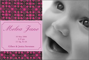 Precious Baby PinkBirth Announcement Cards