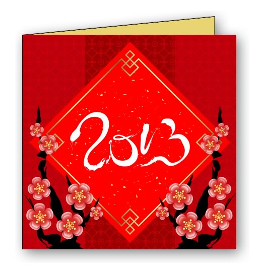 Cherry Blossoms - Chinese New Year Greeting Card