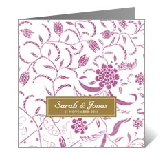 Batik Halus Asian Wedding Card