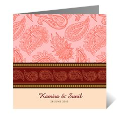 Lakisha Asian Wedding Card