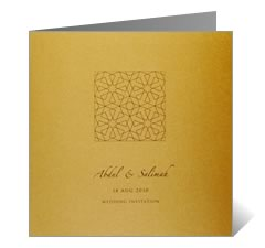Persian Purity Wedding Card