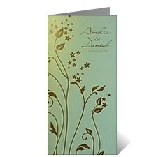 Bunga Rampai Floral Wedding Card