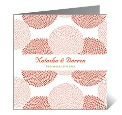Bunga Seri Floral Wedding Card
