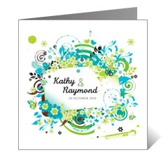 Summer Sun Floral Wedding Card